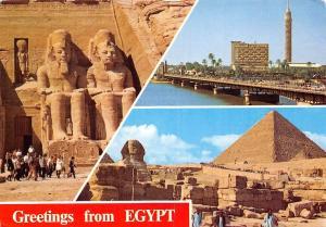 Egypt Abu Simble Rock Temple of Ramses II Cairo The Tower and El Tahrir Bridge