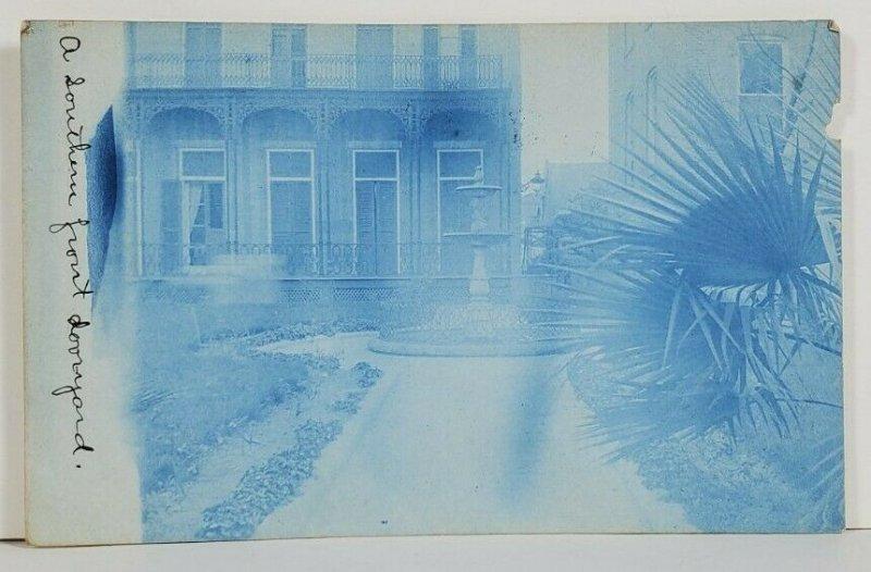 RPPC Washington DC Home Front Door Yard Fountain to Takoma Park Postcard P17