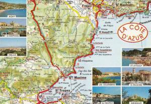 Map Of La Cote D'Azur France Multi View