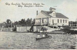 Big Rapids Michigan~Big Rapids Electric Light Co Waterfront~1911 CU Williams~PC