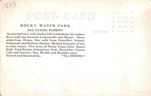 Eau Gallie Florida Rocky Water Park Gas Station Cottages Real Photo PC AA390