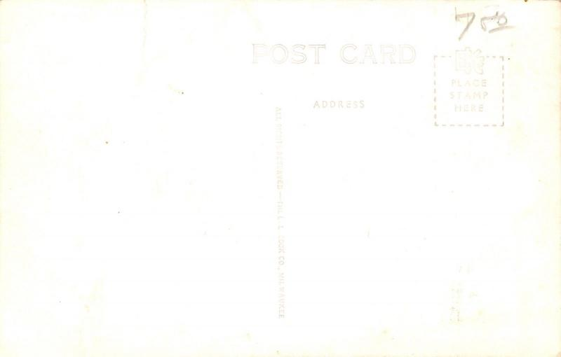 Belmond Iowa~High School Gymnasium~Art Deco~1950s Real Photo Postcard~RPPC