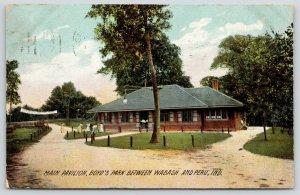 Wabash Peru Indiana~Ladies @ Boyd's Park Pavilion~Wabash Valley Fair Banner~1908
