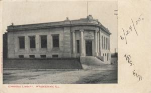 WAUKEGAN , Illinois , PU-1905 ; Carnegie Library