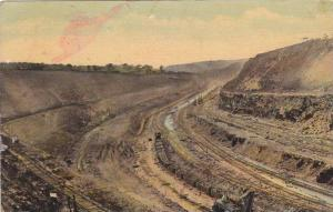 Culebra Cut at Empire, most stupendous task of the canal-constructuon, Panama...