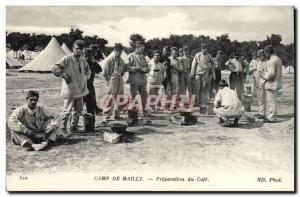 Old Postcard Camp de Mailly preparation of the coffee (militaria) TOP