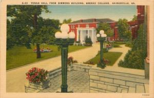 Gainesville Georgia~Brenau College~Yonah Hall~Simmons Bldg Globe Lamp Posts~1940
