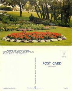 Scene in Kildonan Park, Winnipeg, Manitoba, Canada, Chrome