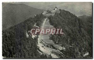 Old Postcard Aerial view of Mont Ste Odile arrives from the coast road south