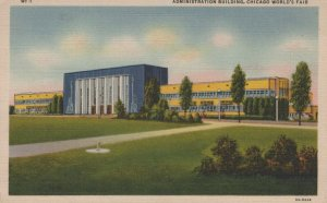 Administration Building At World Fair Chicago Illinois Vintage Linen Post Card