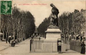 CPA Beziers-Les Allees Paul Riquet (255549)