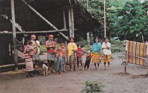 A Colorado Indians' Family, Primitive Loom Where they Weave their Cloth, ECUA...