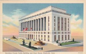 Tennessee Nashville Davidson County Public Building and Court House Curteich
