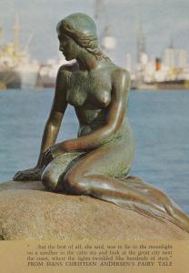 The Little Mermaid Hans Christian Anderson Statue Denmark Postcard