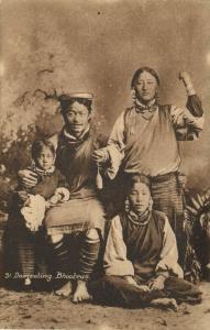 bhutan, Group of Native Bhooteas (1910s) Dalhousie Postcard