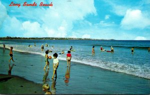Maine York Long Sands Beach Childen At Play 1965