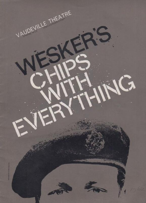 Weskers Chips With Everything Frank Finlay Vauderville RAF Theatre  Programme
