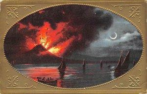 Erupting Volcano Volcano 1909