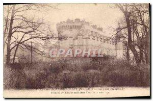 Old Postcard Chateau de Rambouillet S and O La Tour Francois 1er