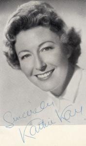 Kathie Kay Hand Signed Photo
