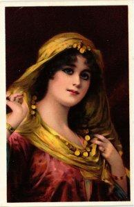 PC CPA ARABIAN TYPES AND SCENES, JESSICA, Vintage Postcard (b17442)