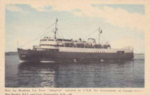 Ice Breaking Car Ferry Abegweit, CNR, Cape Tormentine, New Brunswick, and P...