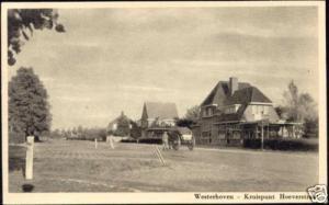 netherlands, WESTERHOVEN, Kruispunt Hoeverstraat 1950s