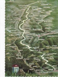 France Map Route Des Cretes de Cernay au Col du Bonhomme
