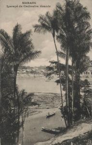 brazil, MANAOS, Igarapé da Cachoeira Grande, Panorama (1910s)