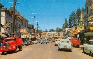 PLACERVILLE, CA Street Scene El Dorado County Cedar Room c1950s Vintage Postcard