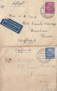 Herrnstadt Military Soldier Cover German Poland I'm Coming Home 1932 & 1937 2...