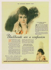 Woodburys Facial Powder Beauty Anti Blackheads Advertising Postcard