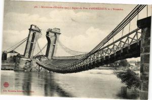 CPA  Inondation d'Octobre 1907 - Aspect du Pont d'Andrézieux le 5 Nov.  (226406)