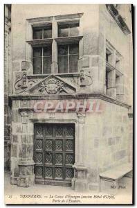Old Postcard Thunder Bank Caisse d & # 39Epargne Old Hotel d & # 39Uzes door ...
