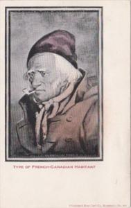 Type Of French-Canadian Habitant In Traditional Costume