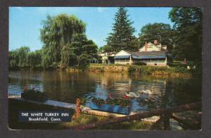 CT White Turkey Inn Restaurant BROOKFIELD Connecticut Postcard