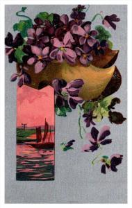 Flowers and sailboat