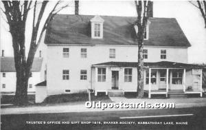 Old Vintage Shaker Post Card Trustee's Office and Gift Shop 1816  Societ...