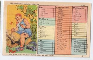 Time Saver Busy Persons Comic 1934 Curteich Linen Postcard