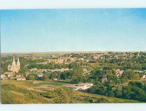 Unused Pre-1980 AERIAL VIEW OF TOWN Medicine Hat Alberta AB F8467