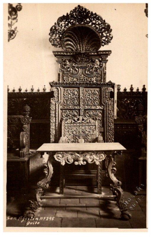 Ecuador San Augustin . Ornate chair