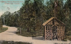 GUELPH , Ontario , 1913 ; Drinking Well in Riverside Park