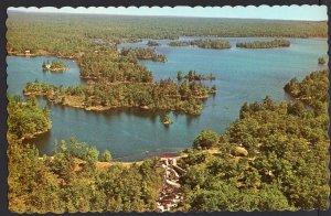 Ontario ~ Aerial View of Deer Lake near HAVELOCK-MARMORA Chrome 1950s-1970s