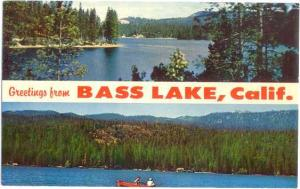 Scenic Greetings from Bass Lake, California, CA, Chrome
