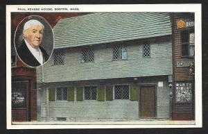 Paul Revere's House Boston Massachusetts unused c1920's