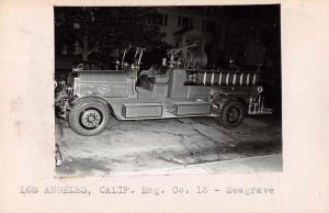 Los Angeles California Eng Co 13 Seagrace Real Photo Non Postcard Back J75404