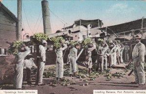 Jamaica Port Antonio Natives Loading Bananas Unto Steamer sk3348