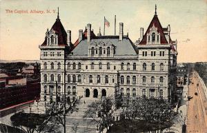 The Capitol, Albany, New York, Early Postcard, Used in 1913