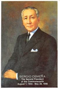 Philippines Old Vintage Antique Post Card Sergio Osmena Second President of C...