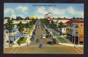FL Lincoln Road Lennox Ave MIAMI BEACH FLORIDA POSTCARD